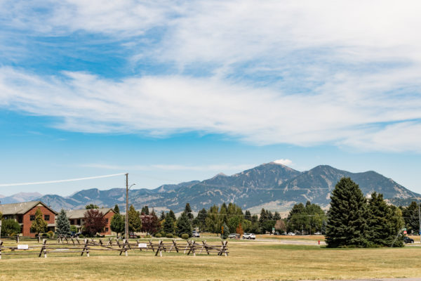 Mountain view from Bozeman, MT